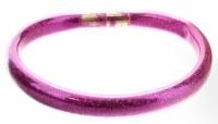 Dark Pink Glitter Tube Kids Bangle