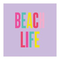 "5"" Square Beach Life Beverage Napkin"