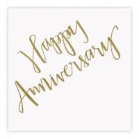 """5"""" Square Happy Anniversary Beverage Napkin"""