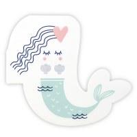 """5.5"""" x 5.3"""" Die Cut Mermaid Beverage Napkin"""