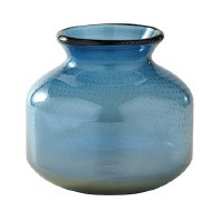 "6"" Blue Ombre Glass Vase"