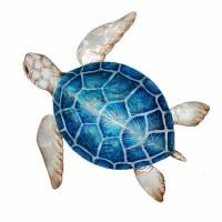 "11"" Blue Shell Capiz Turtle Wall Plaque"