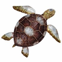 """24"""" Brown Shell Capiz Turtle Wall Plaque"""