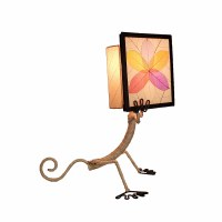 "16"" Multicolored Gecko In Book Table Lamp"