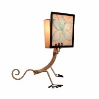 "16"" Aqua Gecko In Book Table Lamp"