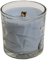 Clean Cotton Wooden Wick Optic Glass Jar Candle