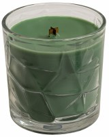 Cypress Whisper Wooden Wick Optic Glass Jar Candle