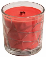 Sweet Melon Wooden Wick Optic Glass Jar Candle