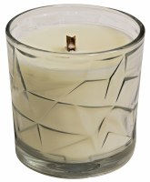 White Sage Wooden Wick Optic Glass Jar Candle