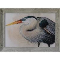"30"" x 42"" Blue Heron 1 Framed Gel Print"