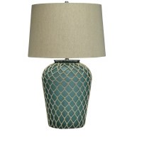 "29"" Aqua Net Table Lamp"