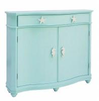 "48"" Turquoise 2 Door Seahorse Knob Cabinet"