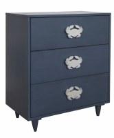 """28"""" Dark Blue 3 Drawer Crab Cabinet"""