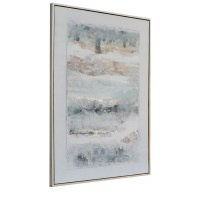 """54"""" x 40"""" Multipastel Abstract Under Glass Framed Print"""