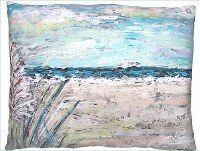 "18"" Square Beach Landscape 1 Pillow"