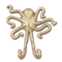 "6"" Gold Octopus Wall Hook"