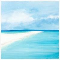 "38"" Square Sandbar View Framed Canvas"