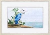 "25"" x 35"" Solo Heron 1 Framed Print"