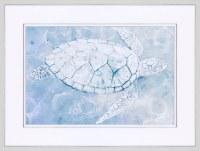 "31"" x 41"" Under The Water Turtle Framed Prnt"
