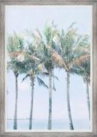 """40"""" x 28"""" Palm Island Framed Gel Print"""