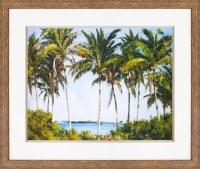 "36"" x 44"" Beach Palms Framed Print"