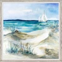 """35"""" Square Sailing Home Framed Gel Print"""