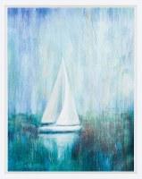 "37"" x 29"" Sailboat Simplicity Framed Print"
