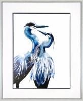 "43"" x 35"" Blue Coastal Birds 3 Framed Print"