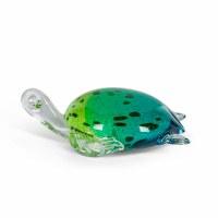 "7"" Green Glass Turtle"