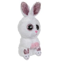 TY Beanie Book Medium Slippers The White Bunny
