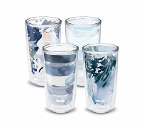 Set of 4, 16 oz Kelly Ventura Blue Tumbler Set
