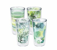 Set of 4, 16 oz Yao Cheng Green Tumbler Set