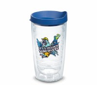16 Oz 5 O'Clock Somewhere Parrot Tumbler With Blue Lid