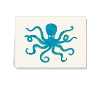 "Pack of 10 Blank 4"" x 6"" Octopus Cards"