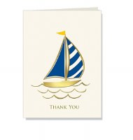 "Single 4"" x 6"" Sailboat Thank You Card"