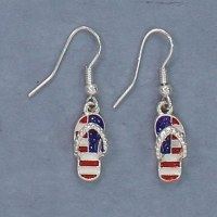 Red, White and Blue Flip Flop Earrings