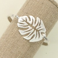 Warm Silver Leaf Bracelet