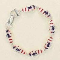 Red, White and Blue Flip Flop Bracelet