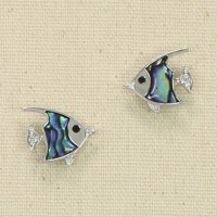 Fish With Abalone Scales Earrings