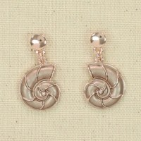 Rose Gold Nautilus Earrings