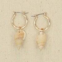 Gold Hoop With Shells Earrings