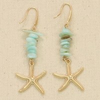 Starfish With Seaglass Earrings