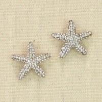 Silver Starfish Bling Earrings