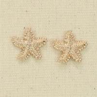 Gold Textured Starfish Earrings