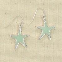 Starfish Seaglass Earrings