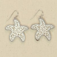 Silver Starfish Filigre Earrings