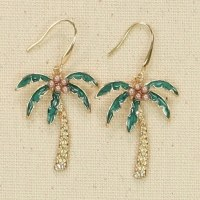 Palm With Pearls Earrings