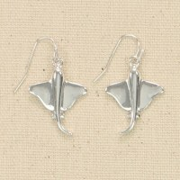 Silver Sting Ray Earrings