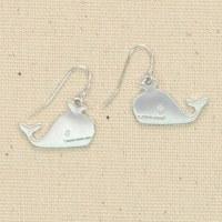Silver Whales Earrings