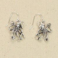 Silver Octopus Earrings